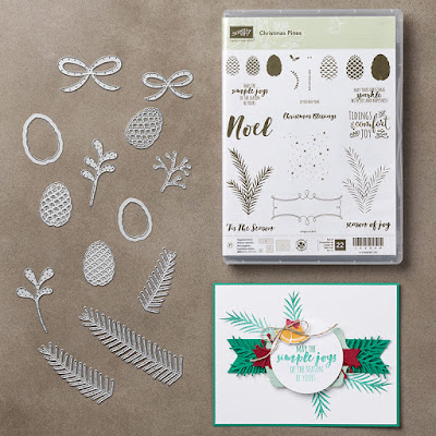 Stampin Up! UK Independent  Demonsrator Susan Simpson, Craftyduckydoodah!, Christmas Pines. Pretty Pines Thinlets Dies, Supplies available 24/7,