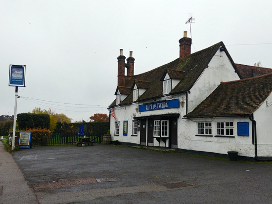 The Hope and Anchor - November 2018  Image by the North Mymms History Project, released under Creative Commons