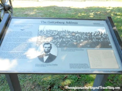 Gettysburg Address Info Plaque in Soldiers National Cemetery Pennsylvania