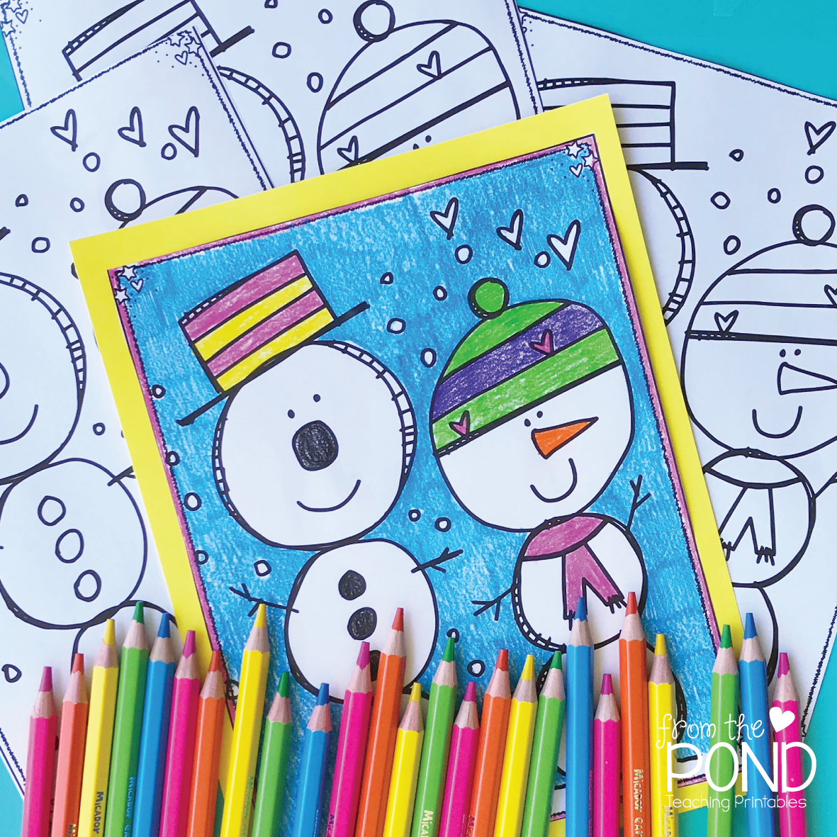 Snowman Coloring Page | From the Pond