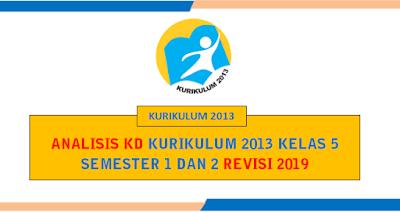 Unduh Analisis KD Kurikulum 2013 Kelas 5 Revisi 2019