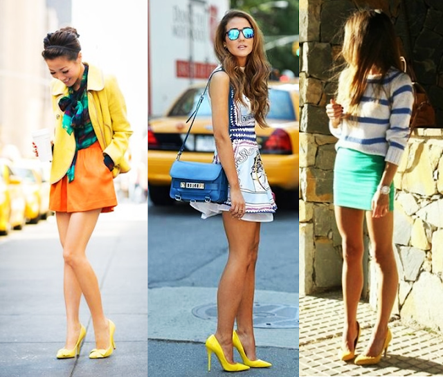 Resultado de imagem para como usar sapato amarelo