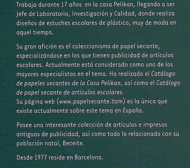 Luis Latorre Albesa, Pelikan, trabajo, química, papel secante