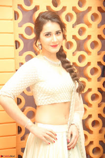 Raashi Khanan looks stunning in Crop Top Deep neck Choli Ghagra Transparent Chunni WOW ~  Exclusive Celebrities Galleries 074.JPG