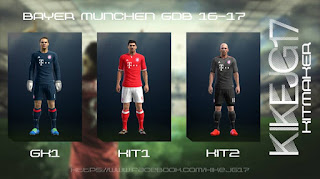 Kits Bayern Munich 2016-2017 Pes 2013 By Kikejg17