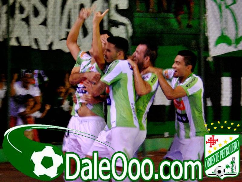 Oriente Petrolero - Festejo gol de Mojica - Oriente Petrolero vs San José - DaleOoo.com web del Club Oriente Petrolero