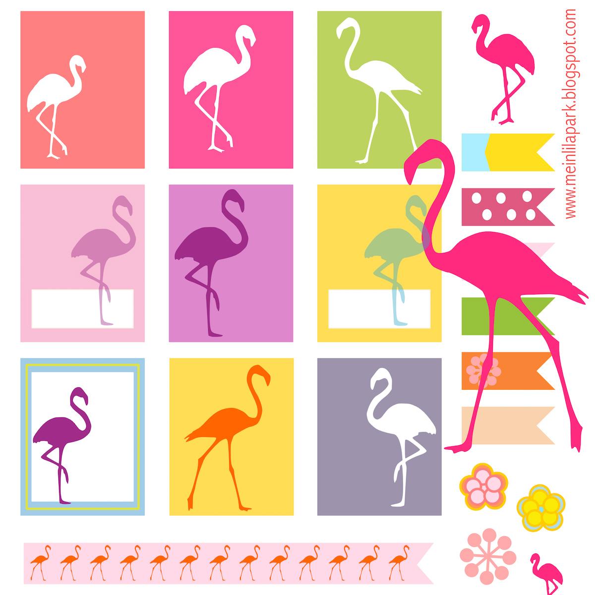 Free printable flamingo planner stickers - ausdruckbare Etiketten ...