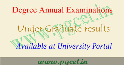 Kakatiya university degree exam result 2020, KU ug results & time table
