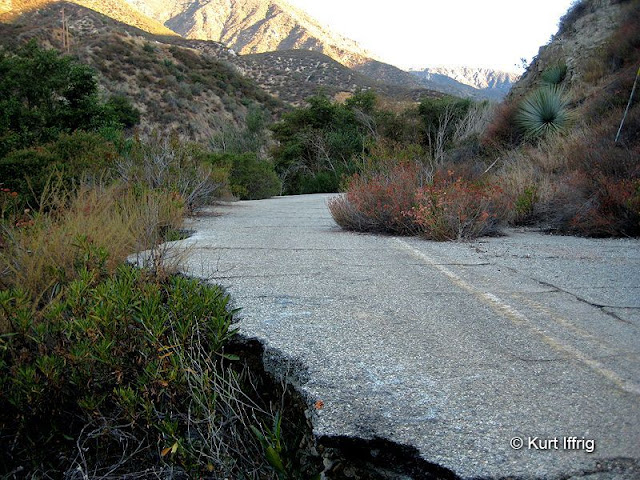 Similar to the East Fork Road, Old Baldy Road was washed away by flooding.