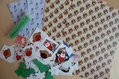 Christmas collage materials