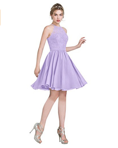 Lilac Dress And Silver Shoes