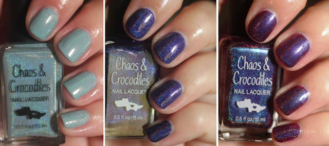 Chaos & Crocodiles Hella Holo Customs Cheshire Rose, Narwhals Eat Macarons Too Cosmic Crystal