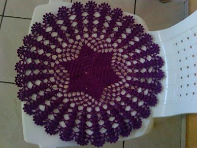 DIY Decoração - Capa Para Banquinho Redondo em Croche Com Barbante - Gráficos e Sugestões 40