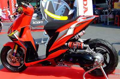 honda beat hijau modifikasi