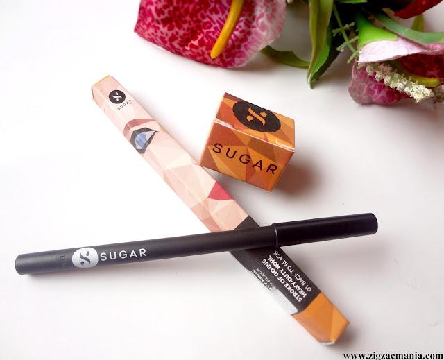 Sugar Cosmetics Stroke Of Genius Heavy Duty Khol (01) Review