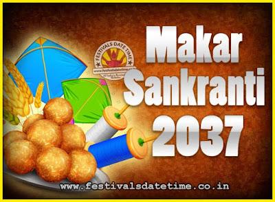 2037 Makar Sankranti Puja Date & Time, 2037 Makar Sankranti Calendar