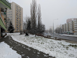 lublin in the snow