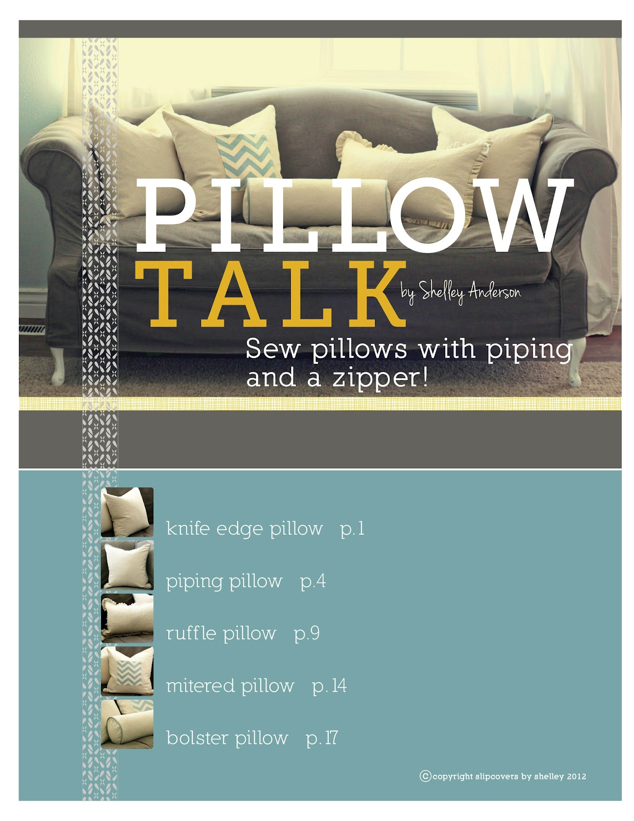 Custom Slipcovers By Shelley Quot Pillow Talk Quot Ebook Sew