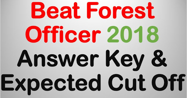Beat Forest Officer Answer Key & Expected Cut Off