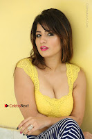 Cute Telugu Actress Shunaya Solanki High Definition Spicy Pos in Yellow Top and Skirt  0346.JPG