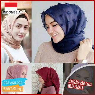 AML002 Jilbab Segiempat Linen Rubiah Polos BMGShop