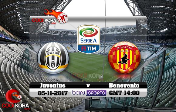 مشاهدة مباراة يوفنتوس و بينفينتو اليوم 5-11-2017 في الدوري الإيطالي