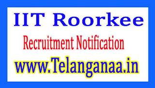 Indian Institute of Technology IIT Roorkee Recruitment Notification 2017