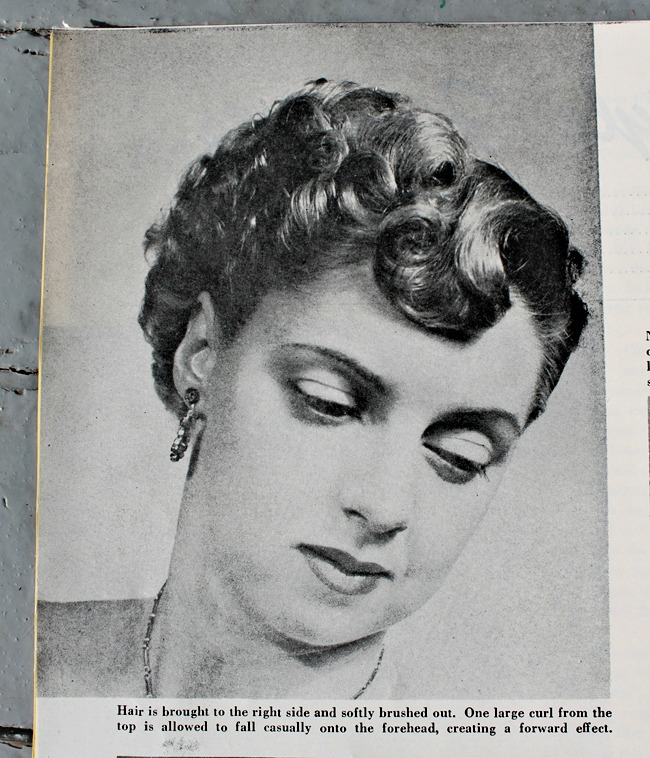 1950s pin curl set