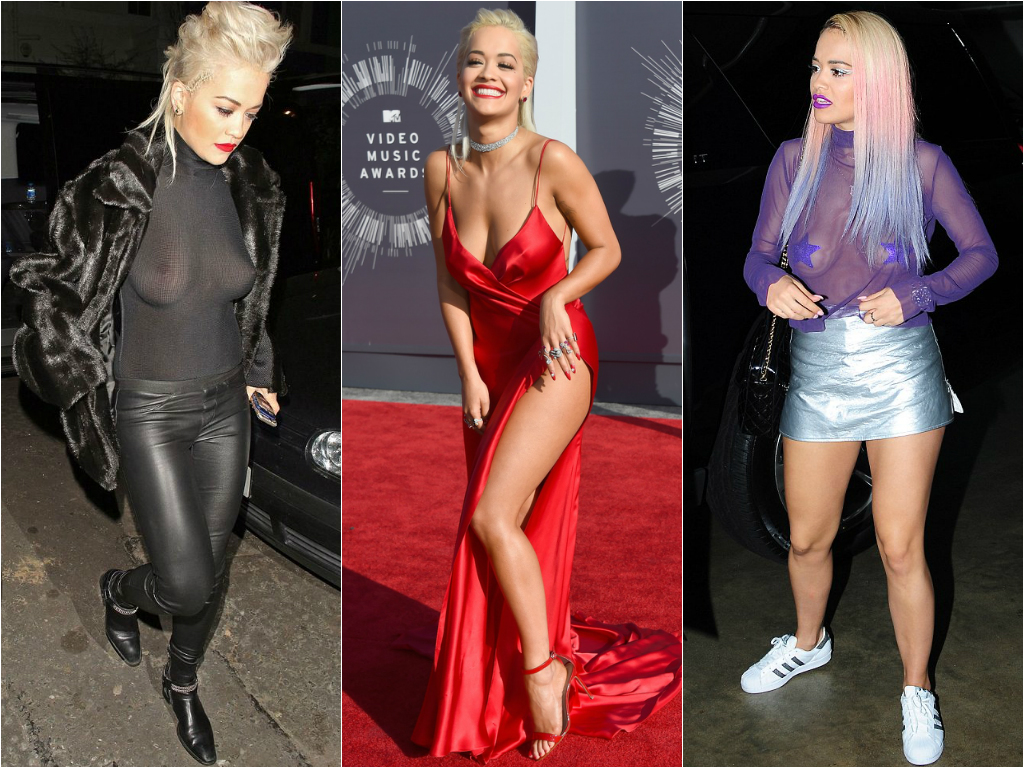 Braless Celebrities Rita Ora