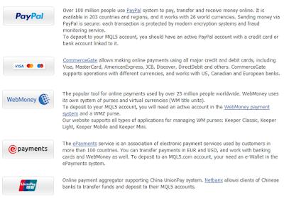 Webmoney, Paypal, Neteller