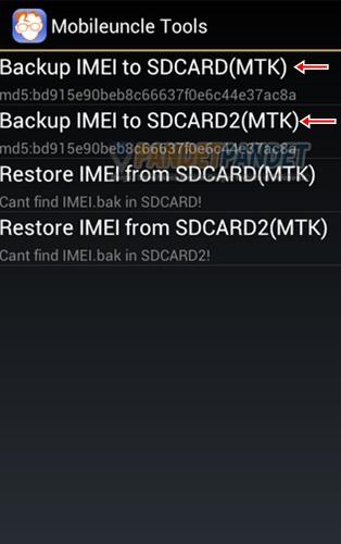 Cara backup dan restore IMEI