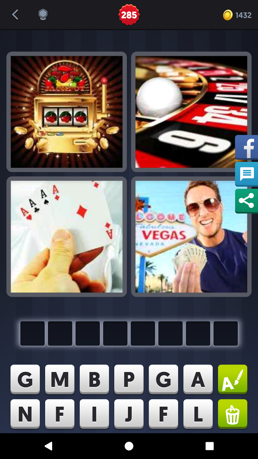 4 Pics 1 Word Answers Solutions Level 285 Gambling