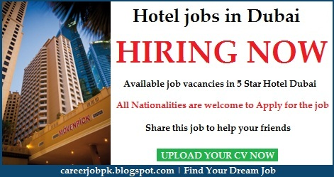 Hotel jobs in Dubai 2016