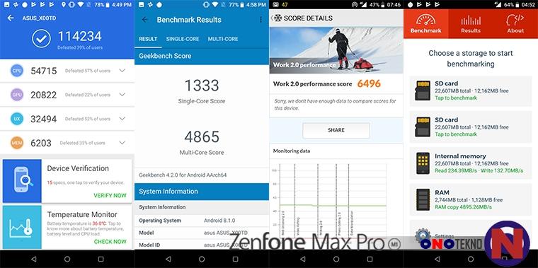 Hasil Benchmark Asus Zenfone Max Pro M1