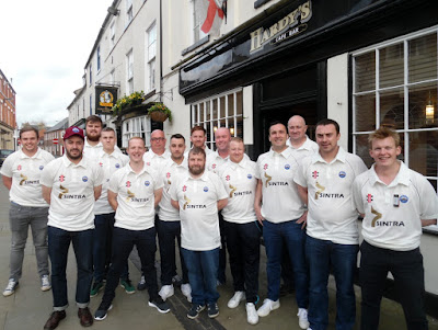 Brigg Town Cricket Club players prior to the start of the 2018 season in which they won the Lincolnshire League division four championship - see Nigel Fisher's Brigg Blog, January 2019