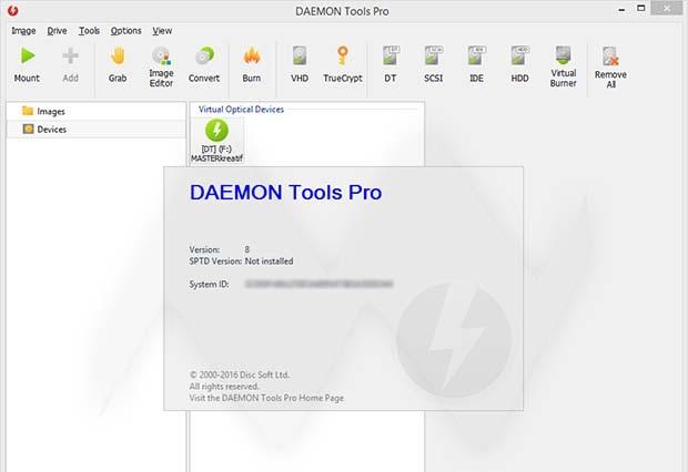 DAEMON Tools 8 PRO + Crack โปรแกรมจำลองไดร์ฟ