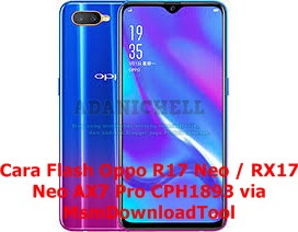 Cara Flash Oppo R17 Neo / RX17 Neo AX7 Pro CPH1893 via MsmDownloadTool