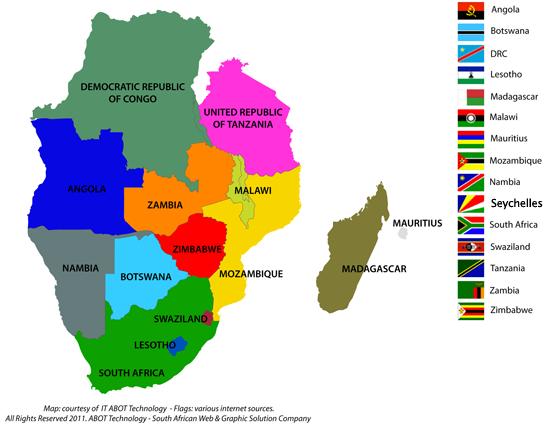 Resultado de imagem para africa austral