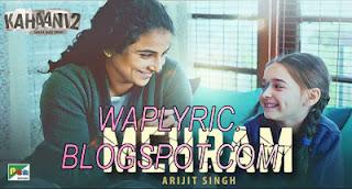 Mehram Lyrics - Arijit Singh