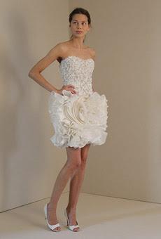 vestido curto de casamento