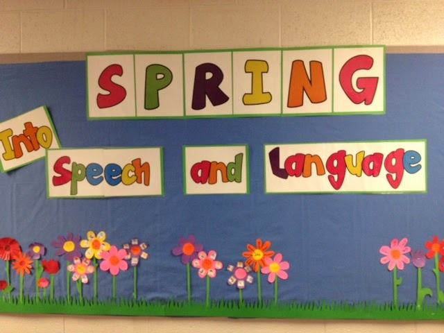 Spring Bulletin Board Idea For A Speech And Language Therapy Room My Universe
