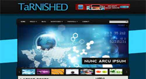 Tarnished Blogger Template