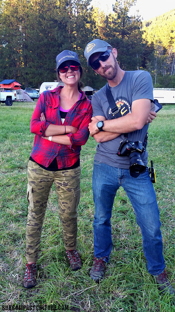 Rhonda Cahill from Exhibition Overland and Bryon Dorr from Exploring Elements strikin' a pose.