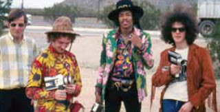 Jimi Hendrix y su banda