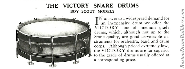 Stone Victory Model Drums, Catalog I (1919)