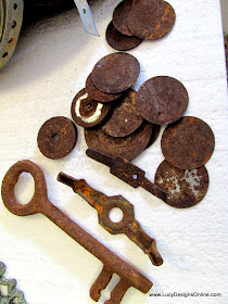 rusty metal washers