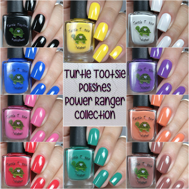 Turtle Tootsie Polishes - Power Ranger Collection