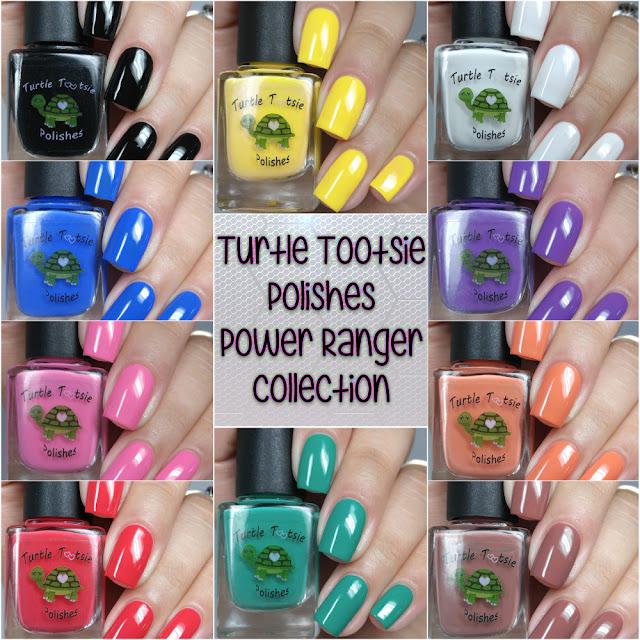 Turtle Tootsie Polishes - Power Ranger Collection