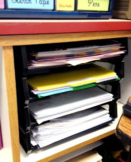 Letter trays help teachers organize their paperwork!