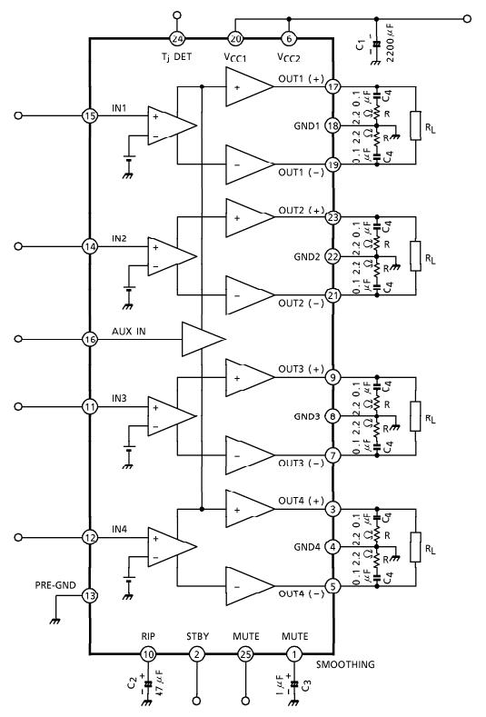 Tda7294 Ic Amplifier Circuit Diagram - Pcb Circuits